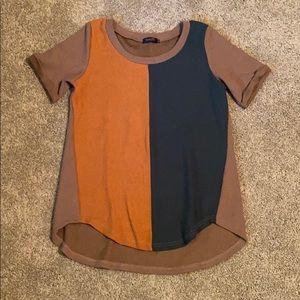 Amaryllis Small two-tone tshirt/tunic NEW